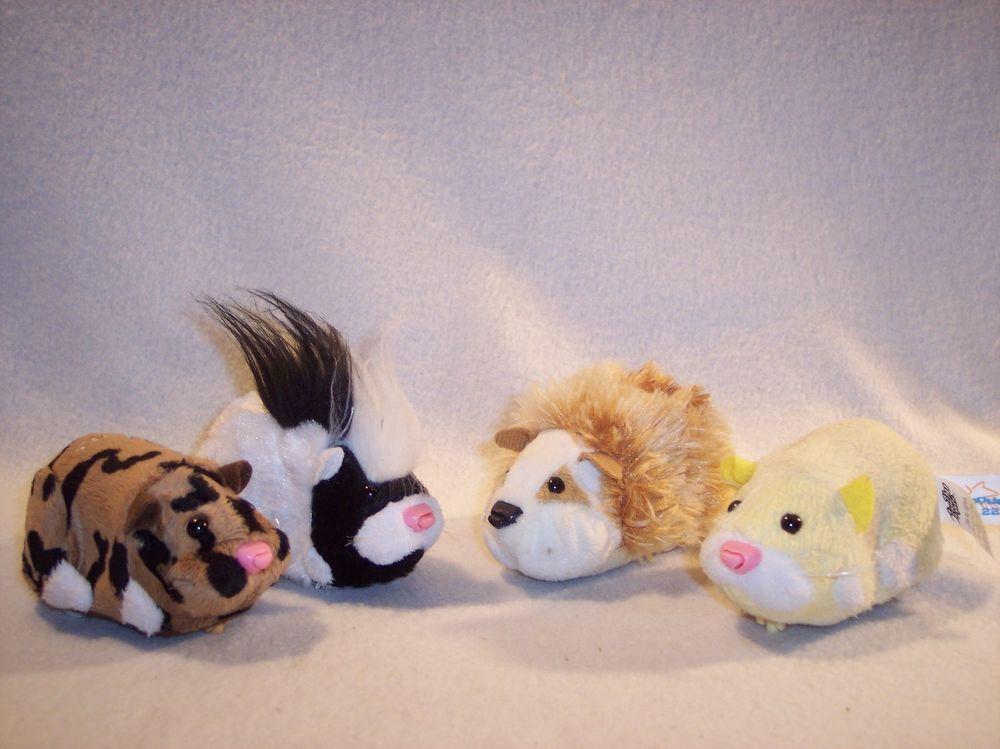 Zhu Zhu Zuzu Pet Hamsters Lot Of 4 Pipsqueak Cappuccino Zuzu Ryder Cepia Pets Zhu Zhu Hamster