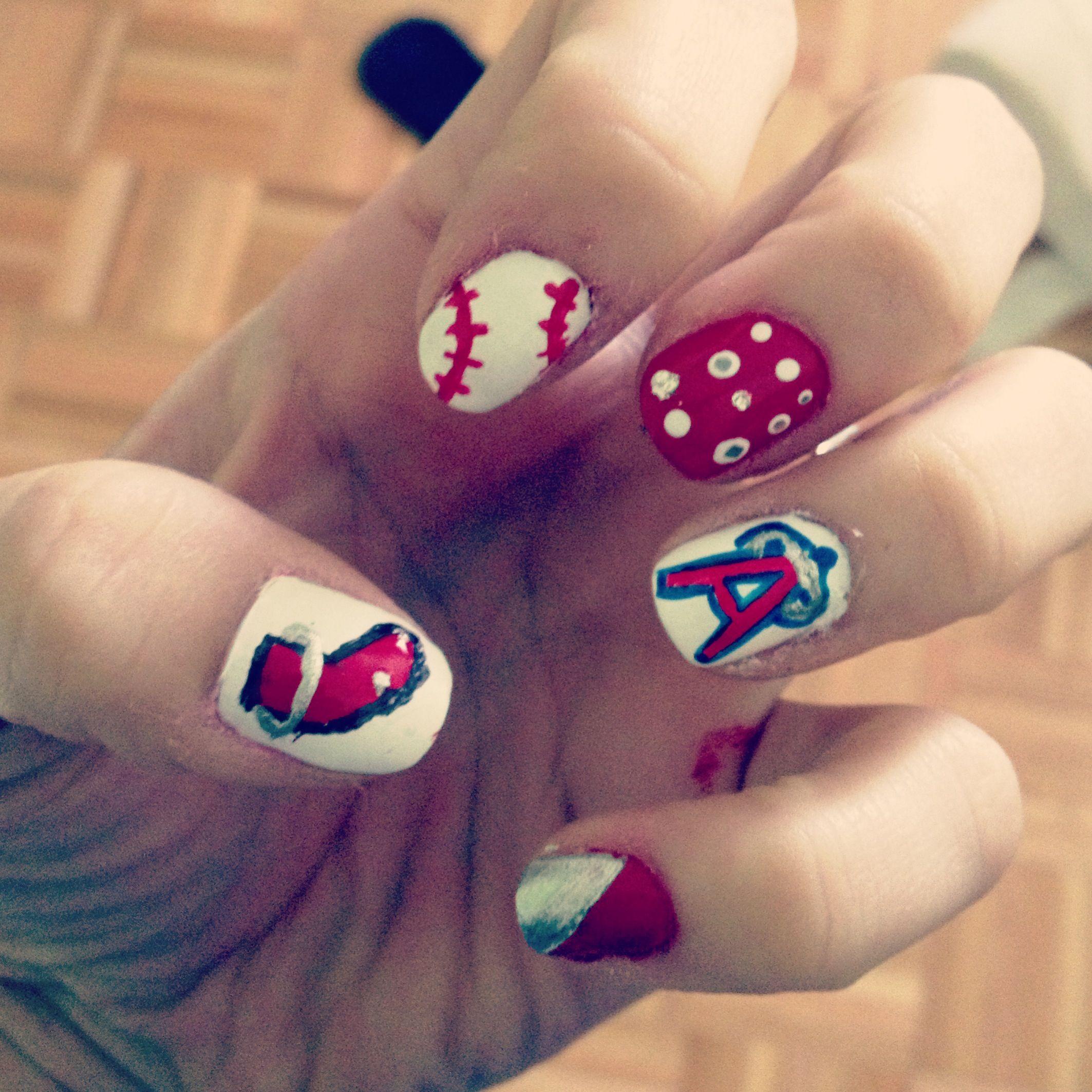 Angels baseball nails!!! | Angels ⚾❤ board | Pinterest | Baseball ...
