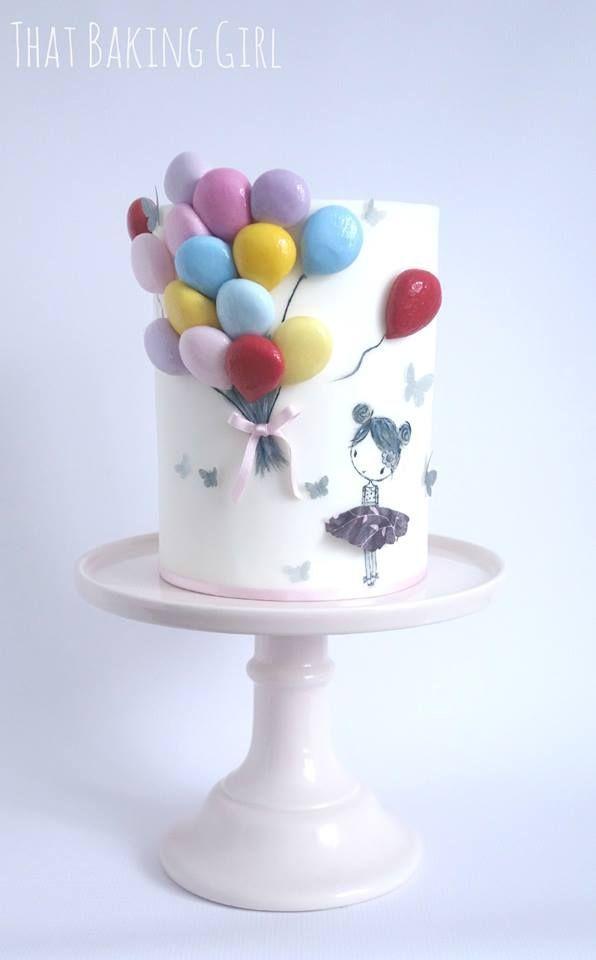 Thatbakinggirl - balloon cake | Girl cakes, Cake