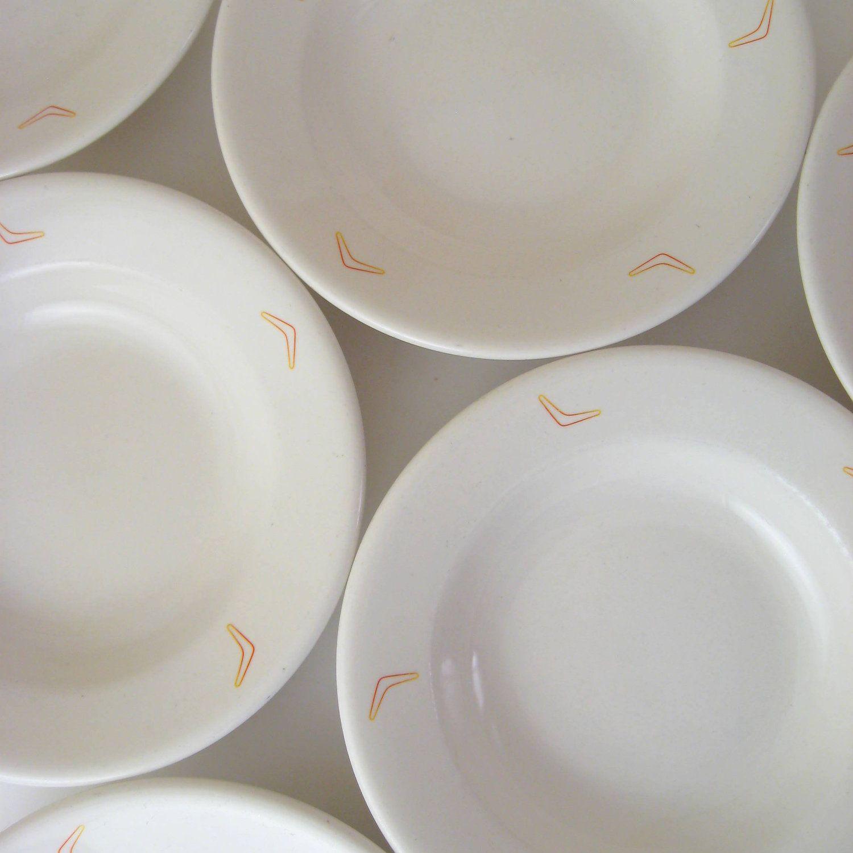 Vintage Restaurant Ware Boomerang Bowls, Set of 6, Niagara China BII ...