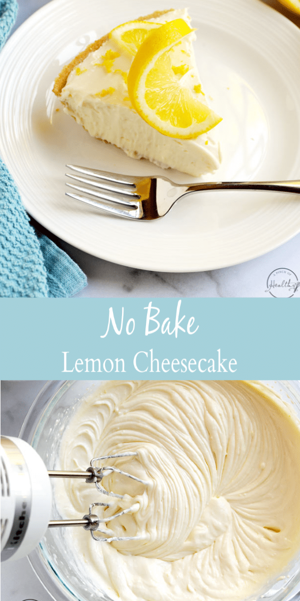 No Bake Lemon Cheesecake (easy, 4 ingredients) - A Pinch of Healthy
