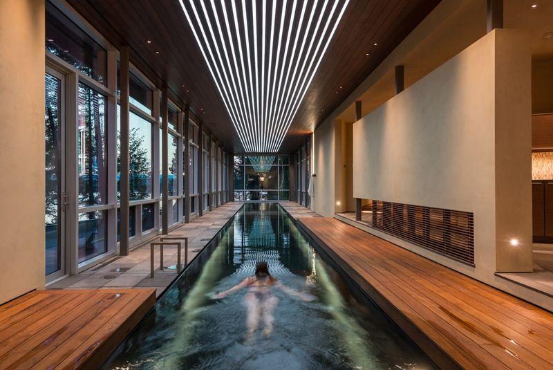 Interior pool house