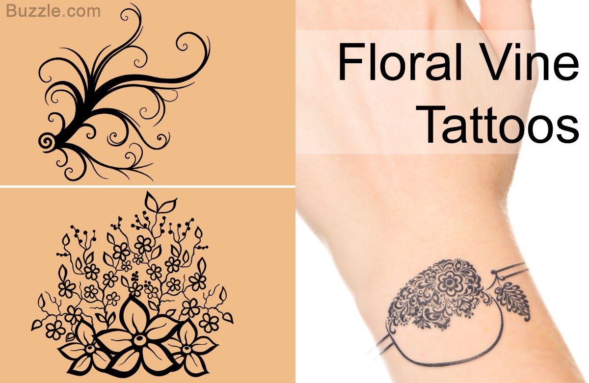Bracelet tattoo designs floral vine tattoos tattoous