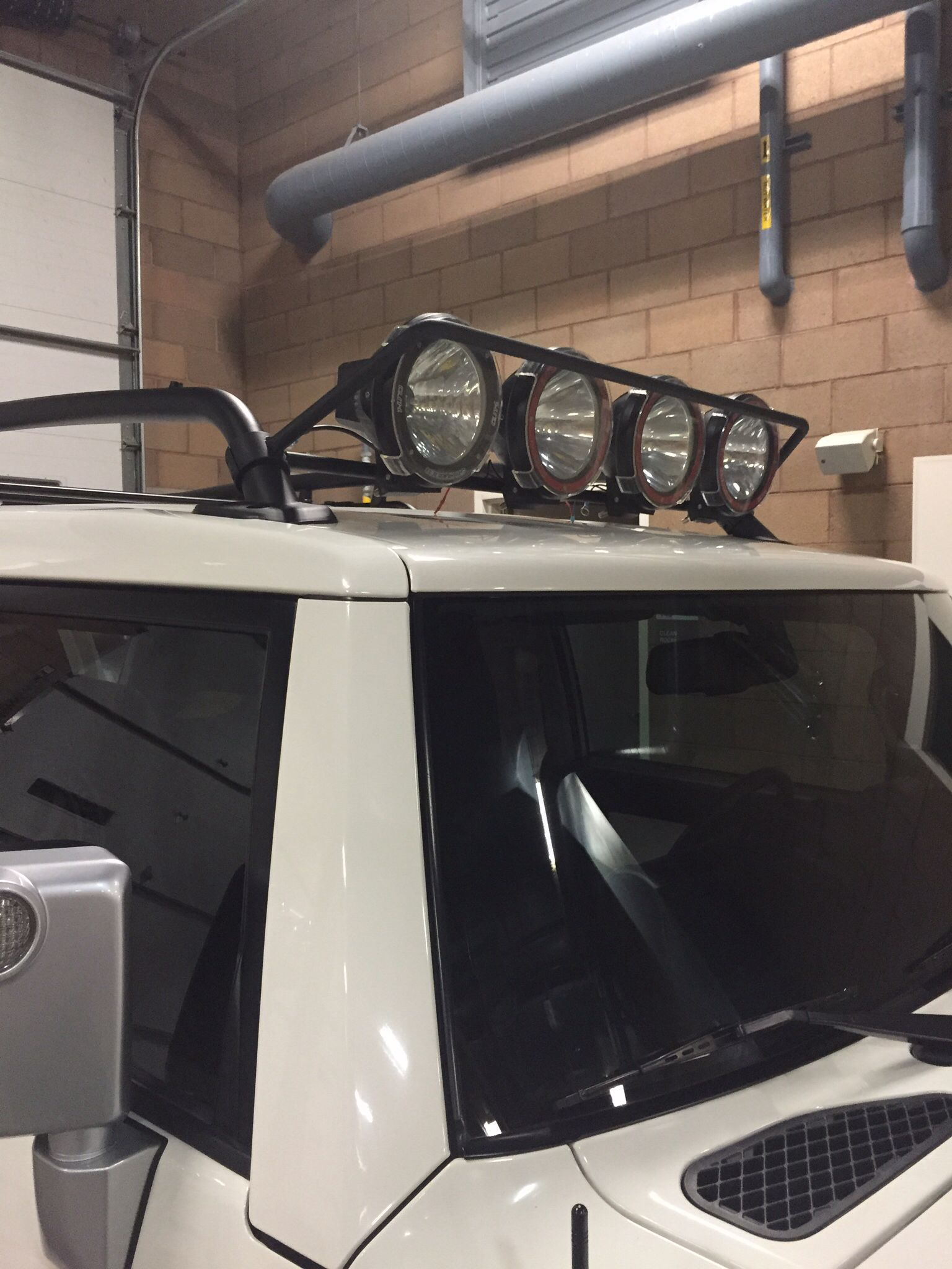The light bar I made from 1.75 clamps from ebay and 3/4
