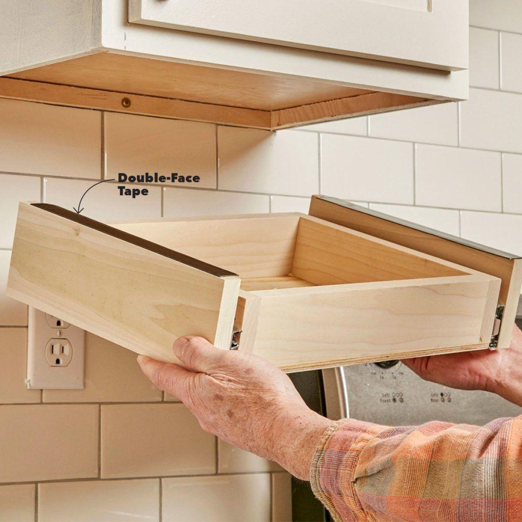 Upper Kitchen Cabinet Woodworking Plans: Under Cabinet Drawers, Refacing