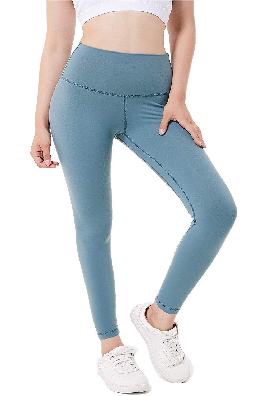 Women's Yoga Pants High Waist w Pocket Tummy Control Workout Leggings - Mystery Green - CA18E2ZGU8M...