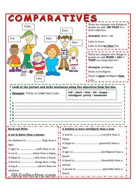 Comparatives English Grammar Teaching English Grammar English Classroom