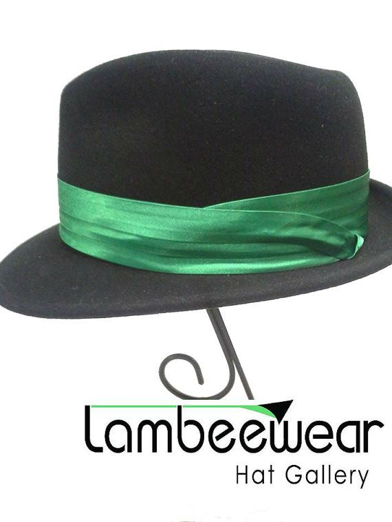 Green Satin Interchangeable Hat Band - Green Hat Band - Green - Hat Accessories - Men's Accessories - Gift for Men - Fathers Day Gift idea