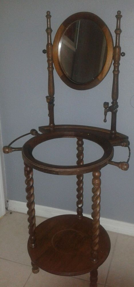 Antique Hand Wash Stand Missing Pitcher And Bowl Do You