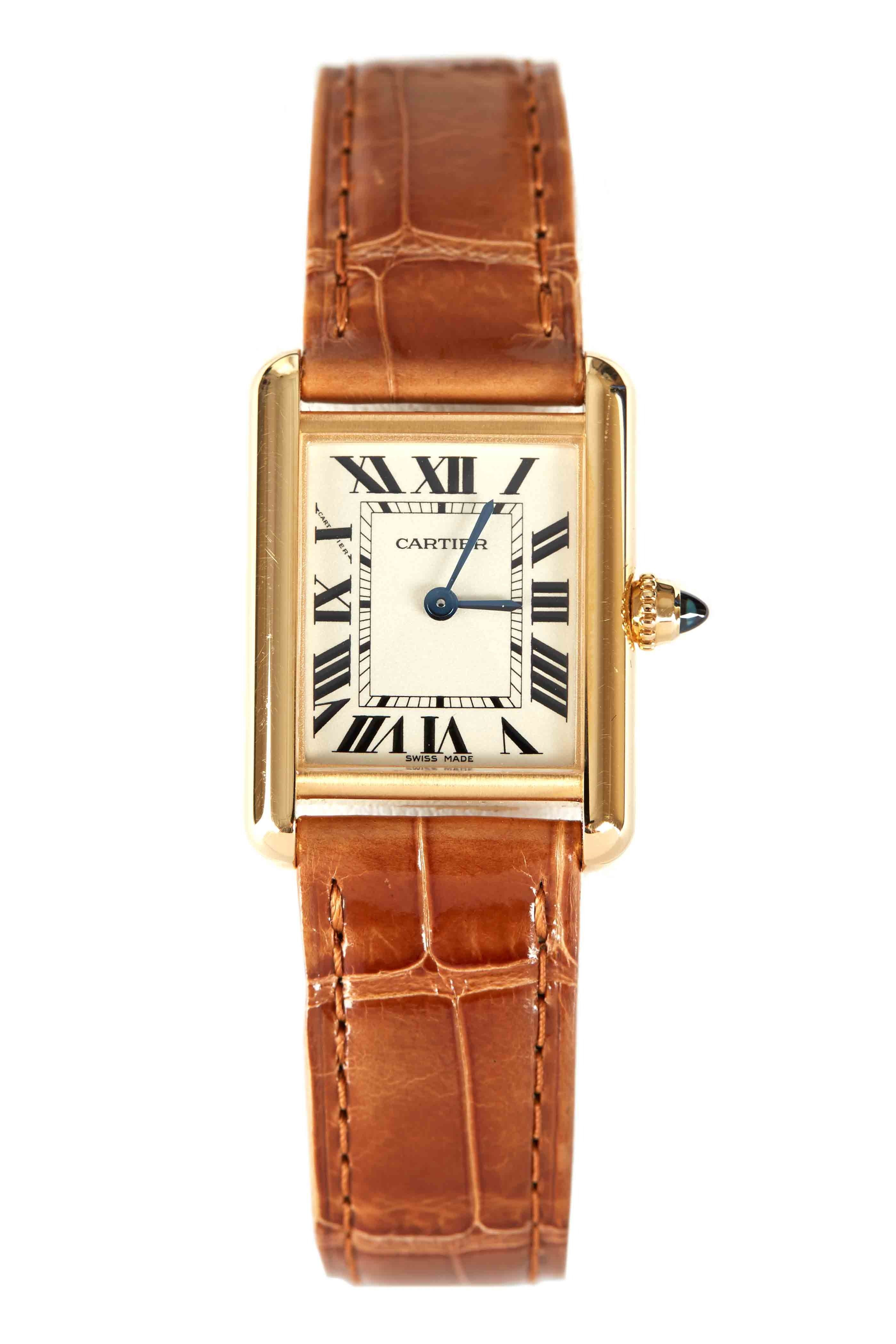 cartier tank bracelet white diamond francaise gold watch watches ladies