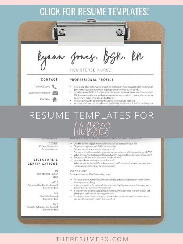 Nurse Resume Template Shop Instant Downloads! - Nursing resume template, Nursing resume, Nursing resume examples, Nursing jobs, Resume examples, Resume - Nurse resume template shop for experienced RNs, new grads, and nurse practitioners  Word, Pages, and Google doc versions included with each purchase
