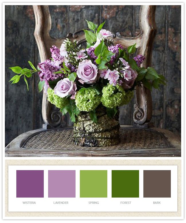 sage green and purple weddings | inspiration board by jenn herrington, photo courtesy of pinterest