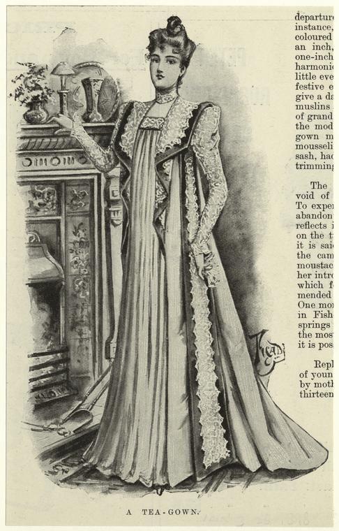 A tea-gown. (1898)