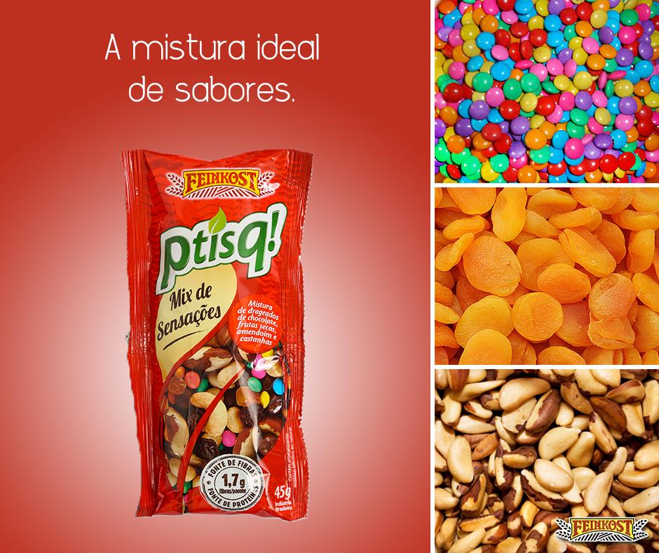 Ptisq! Mix de Sensações. A mistura ideal de chocolate, frutas secas e castanhas! #Feinkost #MixDeSensações