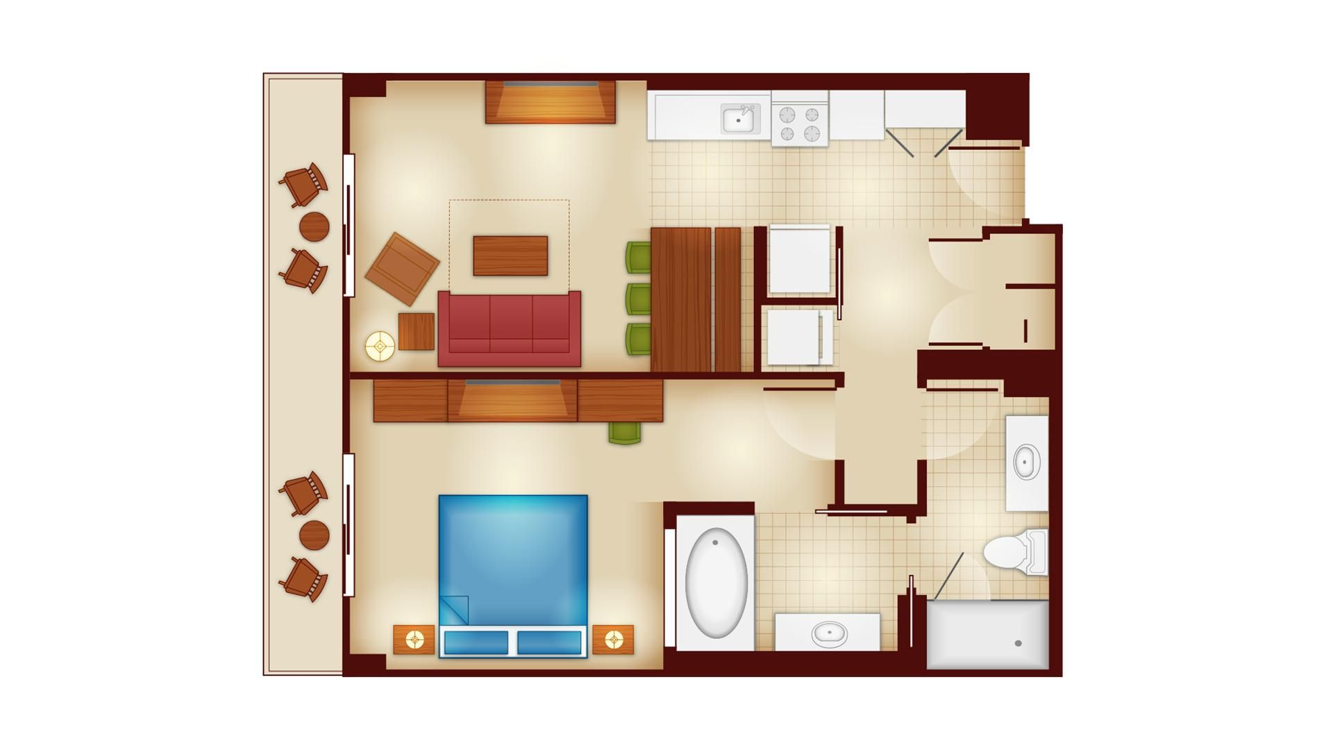 Copper Creek Villas And Cabins 1 Bedroom Villa Floor Plan Wilderness Lodge Disney Wilderness Lodge Lodge