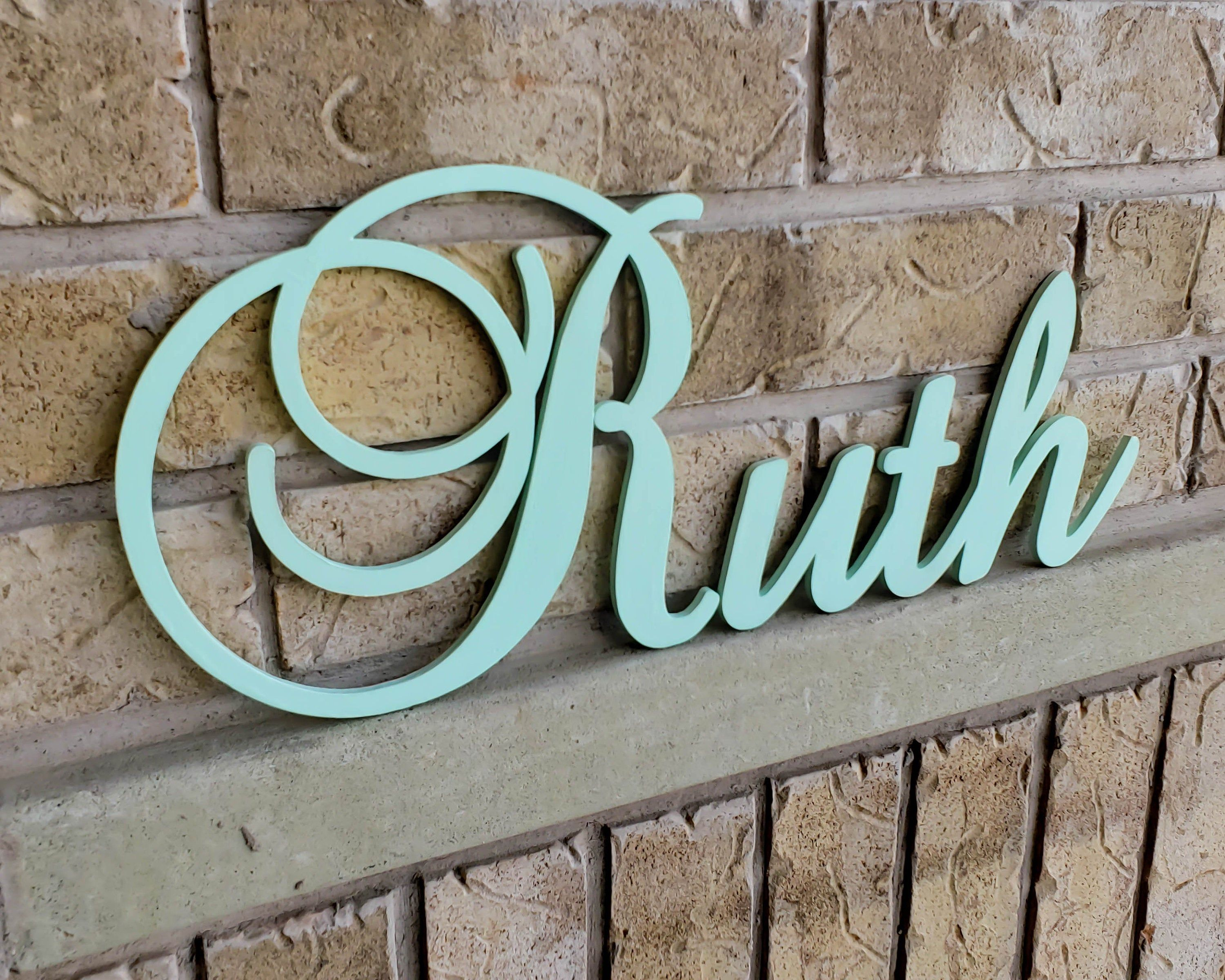 Large Wooden Letters For Nursery Decor Nursery Name Sign Baby Name Sign Personalized Wood Letters Kids Name Sign In 2020 Wooden Letters For Nursery Large Wooden Letters Baby Name Signs