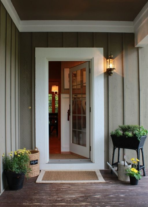 Thick Molding Around Door Cottage Exterior Exterior
