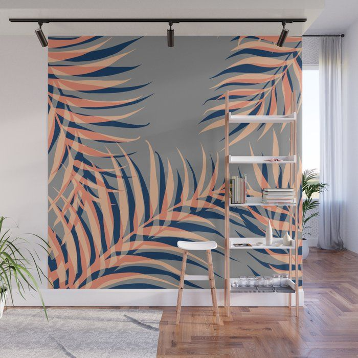 Palms Vision Ii Wall Mural by Designdn - 8' X 8'