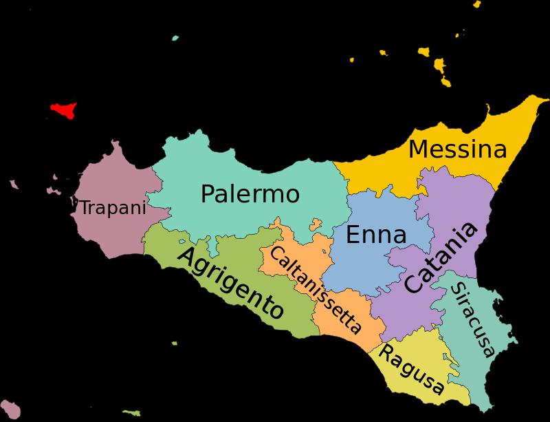 Cartina Completa Sicilia.I 390 Comuni Della Sicilia Abitanti E Superficie Siciliafan Sicilia Mappa Dell Italia Sicilia Italia