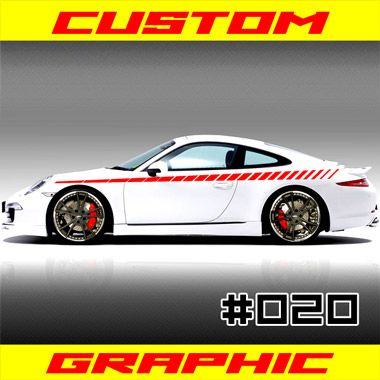 Custom vehicle stripe racing graphics 020 these vinyl graphics are computer die cut no background will fit any car or truck