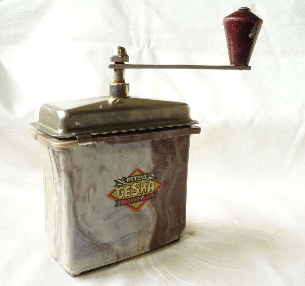 Rarität Mokka Kaffeemühle Bakelit Patent Geska
