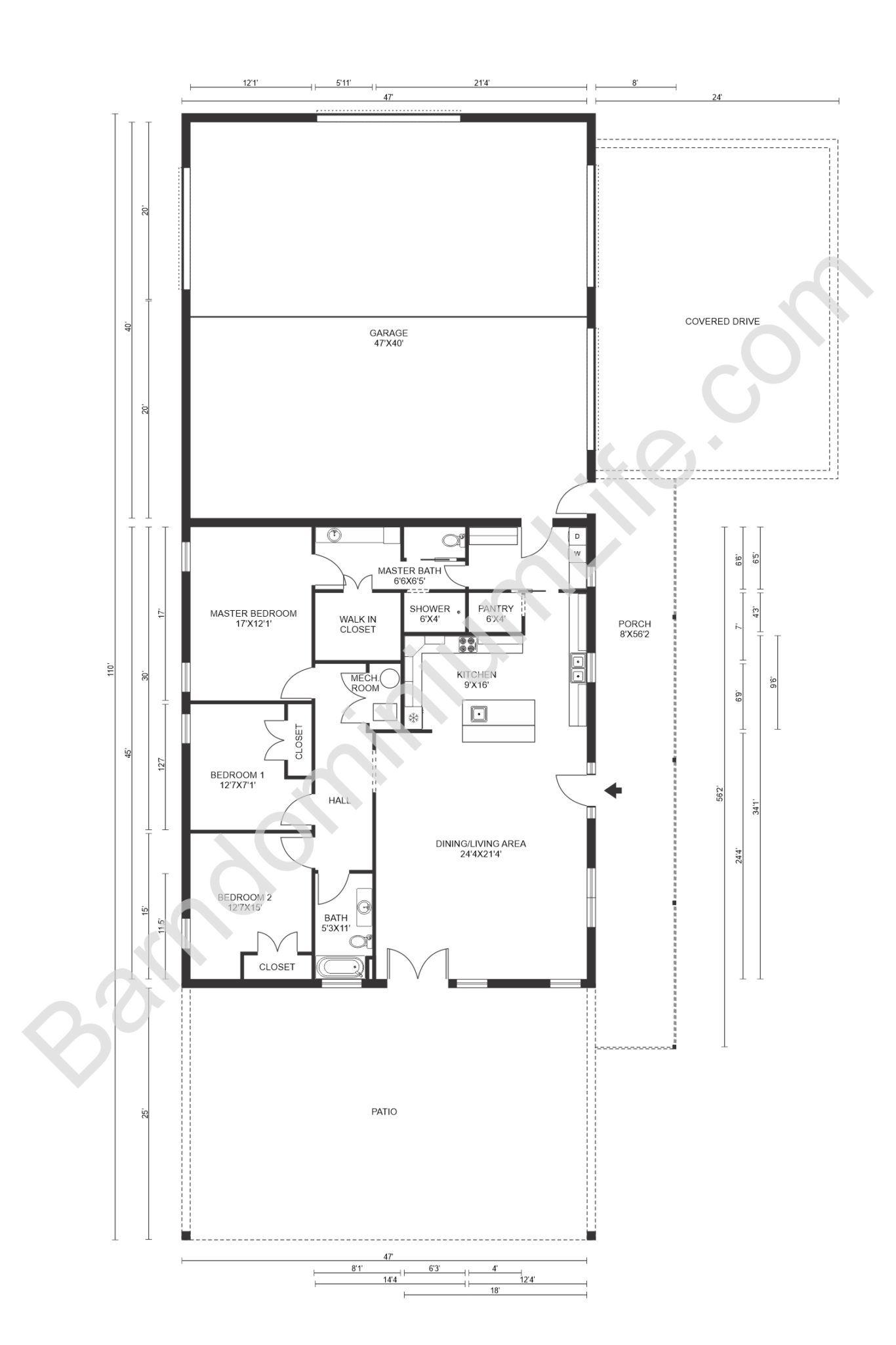 8 Inspiring Barndominium Floor Plans With Garage In 2020 Barndominium Floor Plans Floor Plans Barndominium