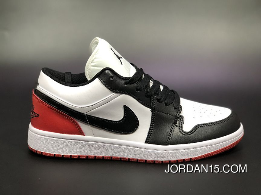 49e997e98fd9 Air Jordan 1 Low AJ1 Aj1 Unisex Skateboard Shoes White Black Red New Release