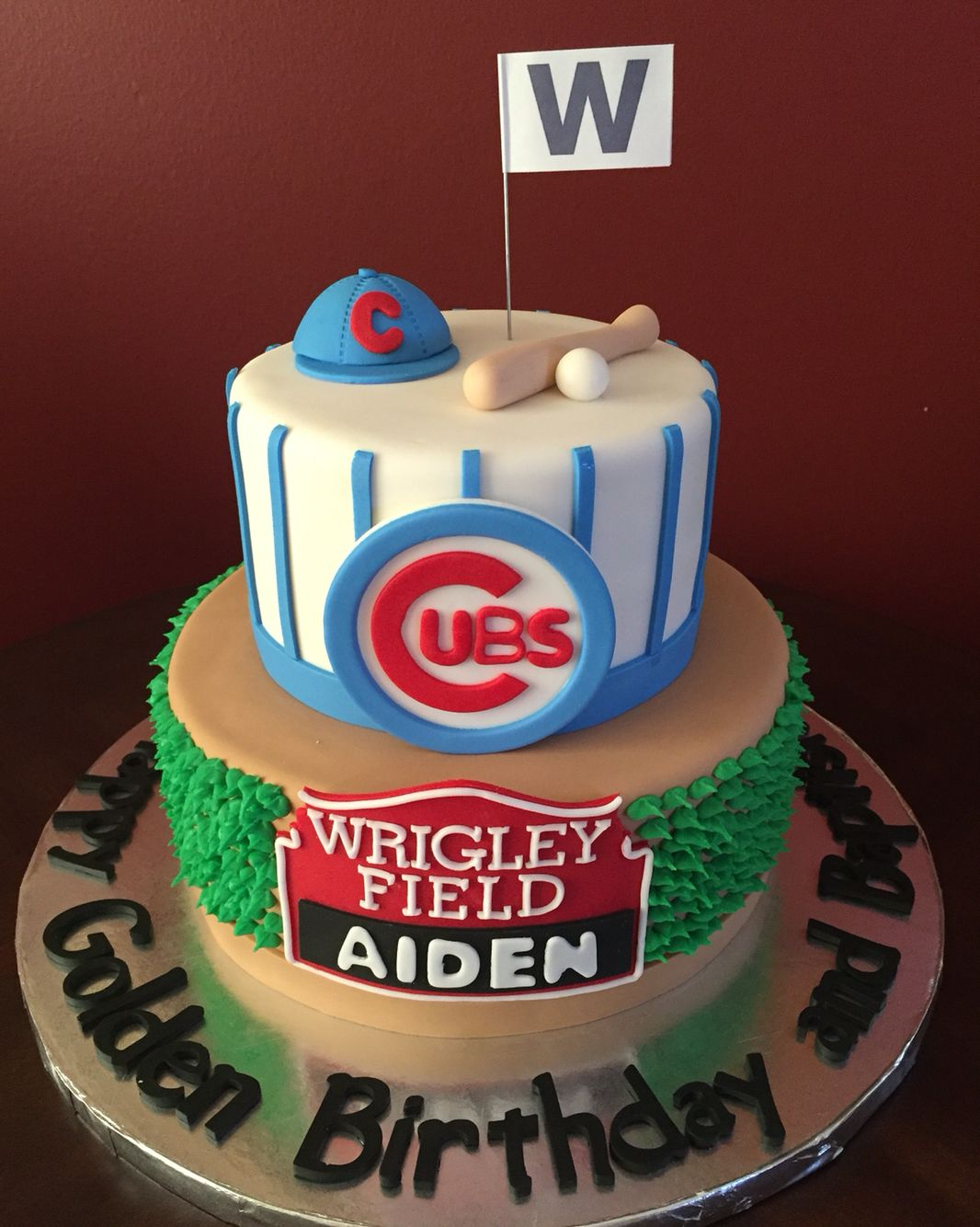 Chicago Cubs Birthday Cake Birthday Cakes Pinterest Chicago