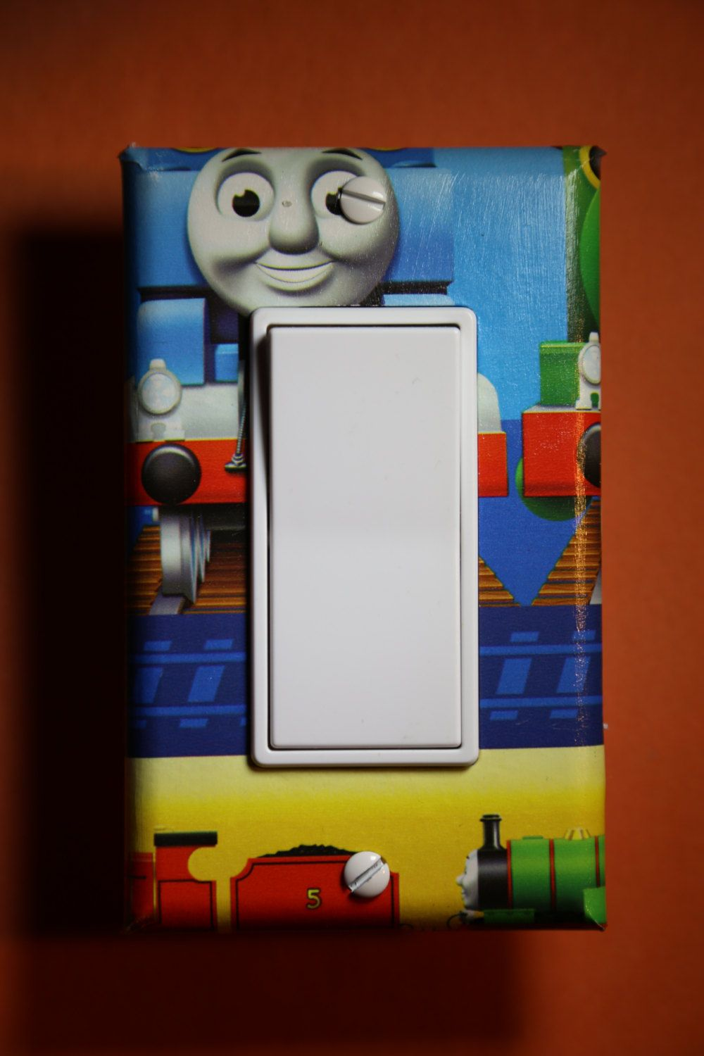 Thomas the Train Single Toggle Single Switch plate cover