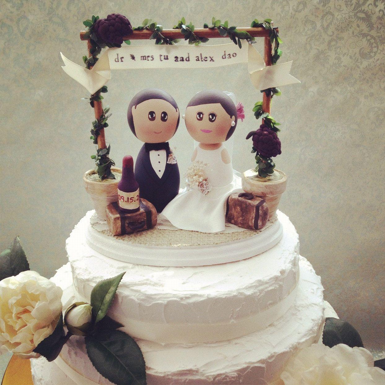 Custom Rustic Vintage Winery Wedding Cake Topper Base By DSMeeBee