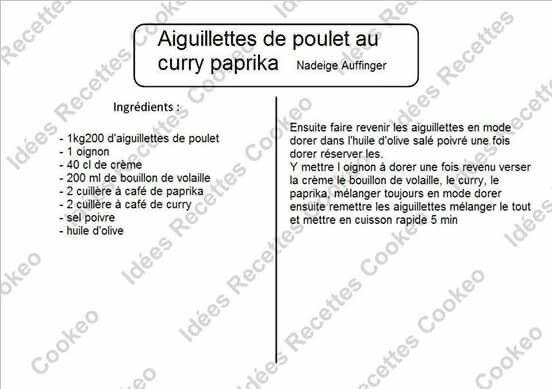 Aiguillettes De Poulet Au Curry Paprika Cookeo Poulet Cooking
