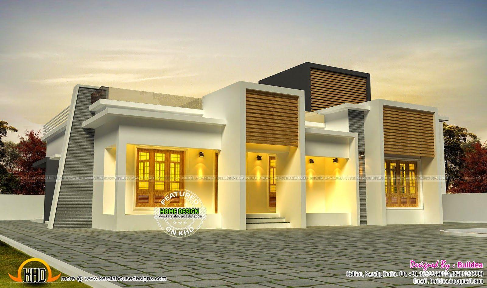 Flat Roof Single Storey House Design
