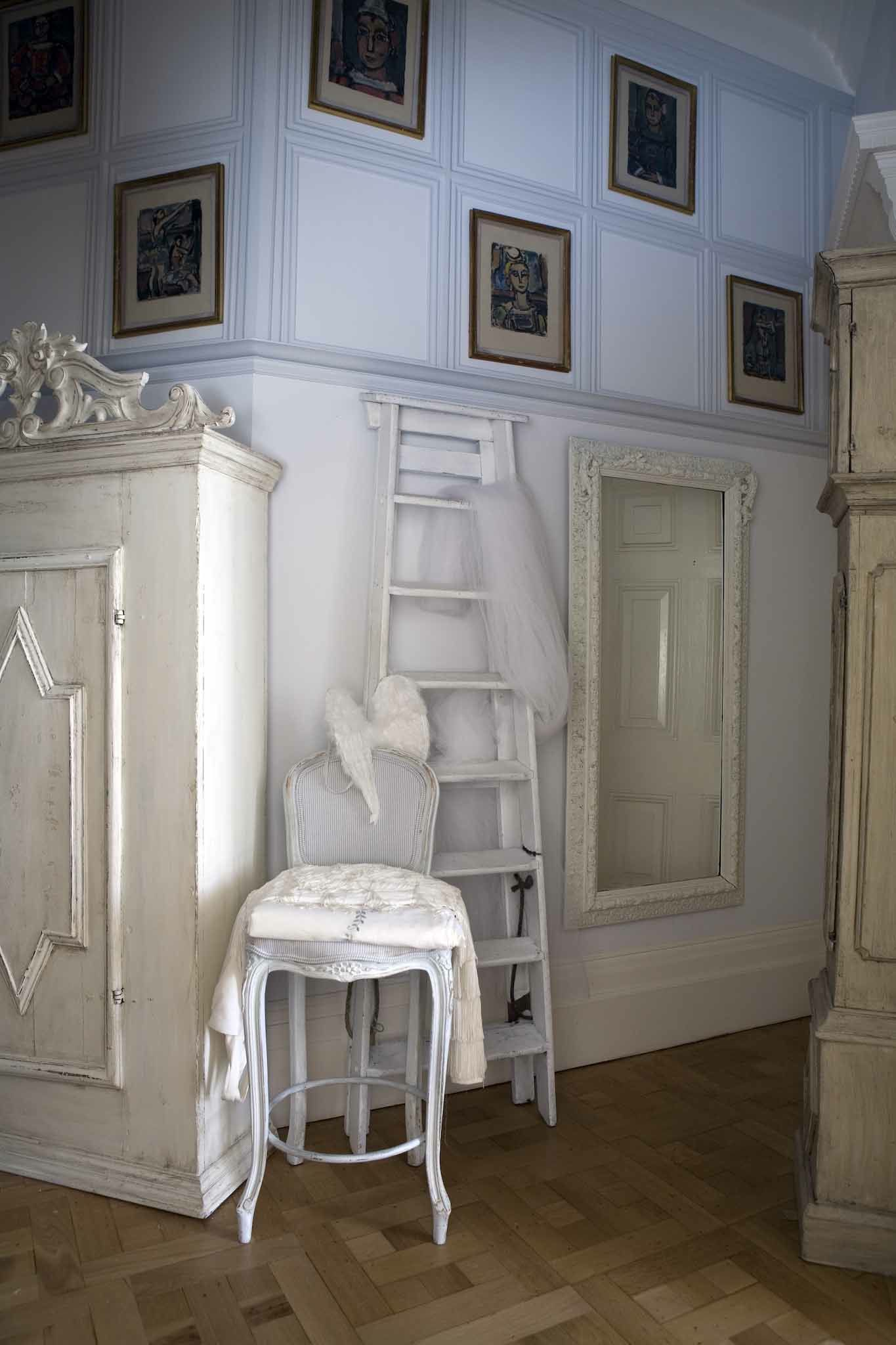 1700s gustavian and 1800s antique mirror from