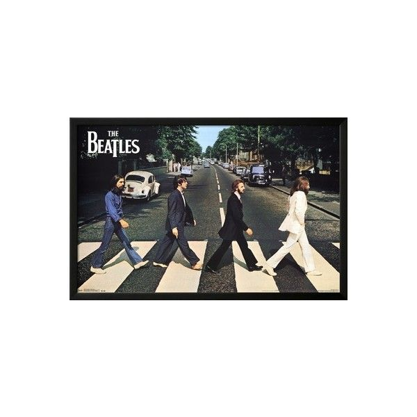 The Beatles Abbey Road Lamina Framed Poster 40 Liked On Polyvore Featuring Home