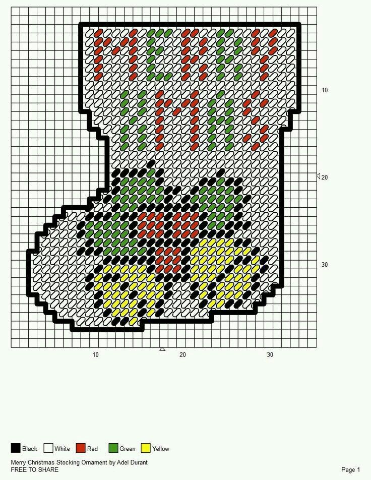 Plastic Canvas Christmas Patterns Free.Merry Christmas Stocking Ornament By Adel Durant Plastic