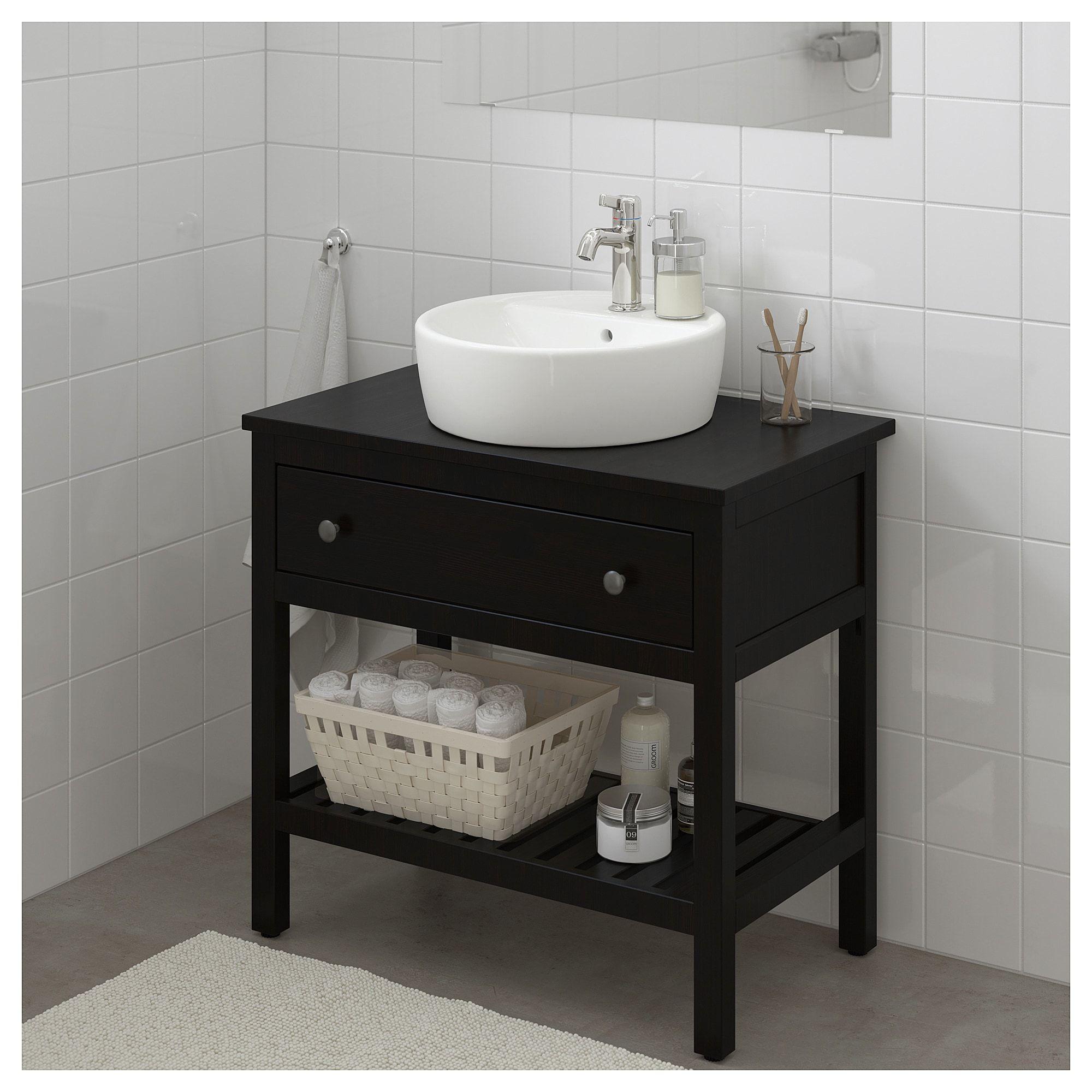 Etagere Pour Vasque A Poser ikea - hemnes bathroom vanity 1 drawer black-brown stain