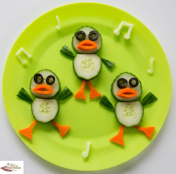 Fun dancing ducks fun food crafts pinterest food art for Fun kid food crafts