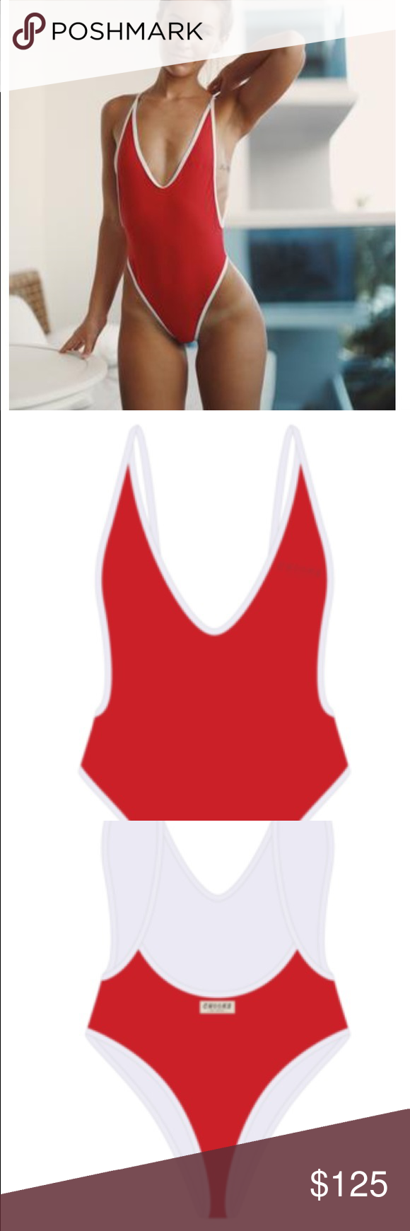773f108dbf Sold out boutine la bay red retro one piece! Sold out! Red retro one ...