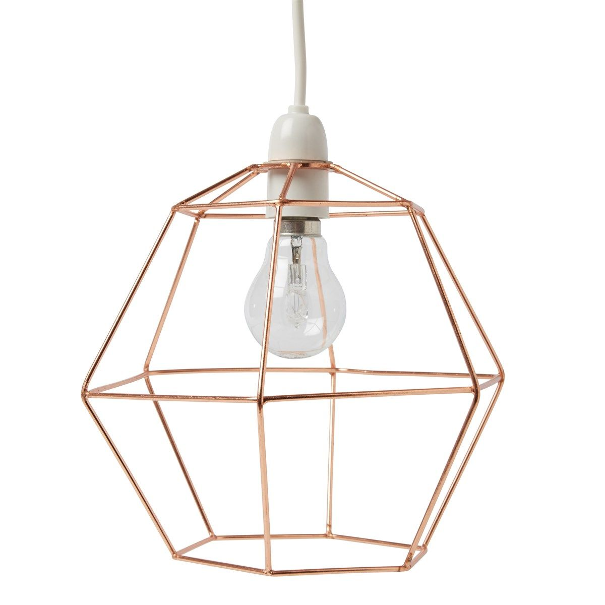Copper Wire Hexagon Lampshade | Lighting Ideas | Pinterest ...