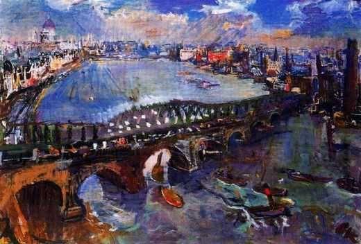 Londres : Pont Waterloo, par Oskar Kokoschka