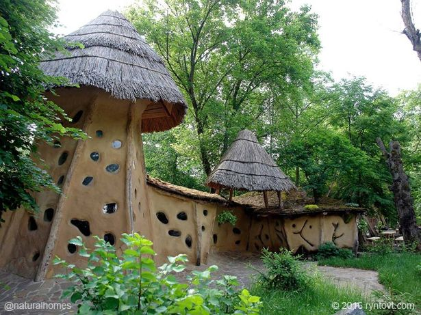 This is the Ukrainian version of cob. It's an ecovillage at Korobov farm in Ukraine.