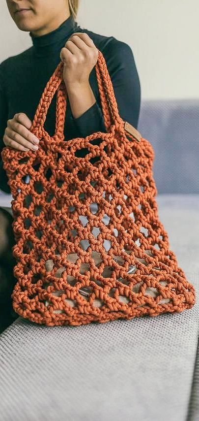45+ Awesome Knitting Crochet Bags Patterns Images - Page ...