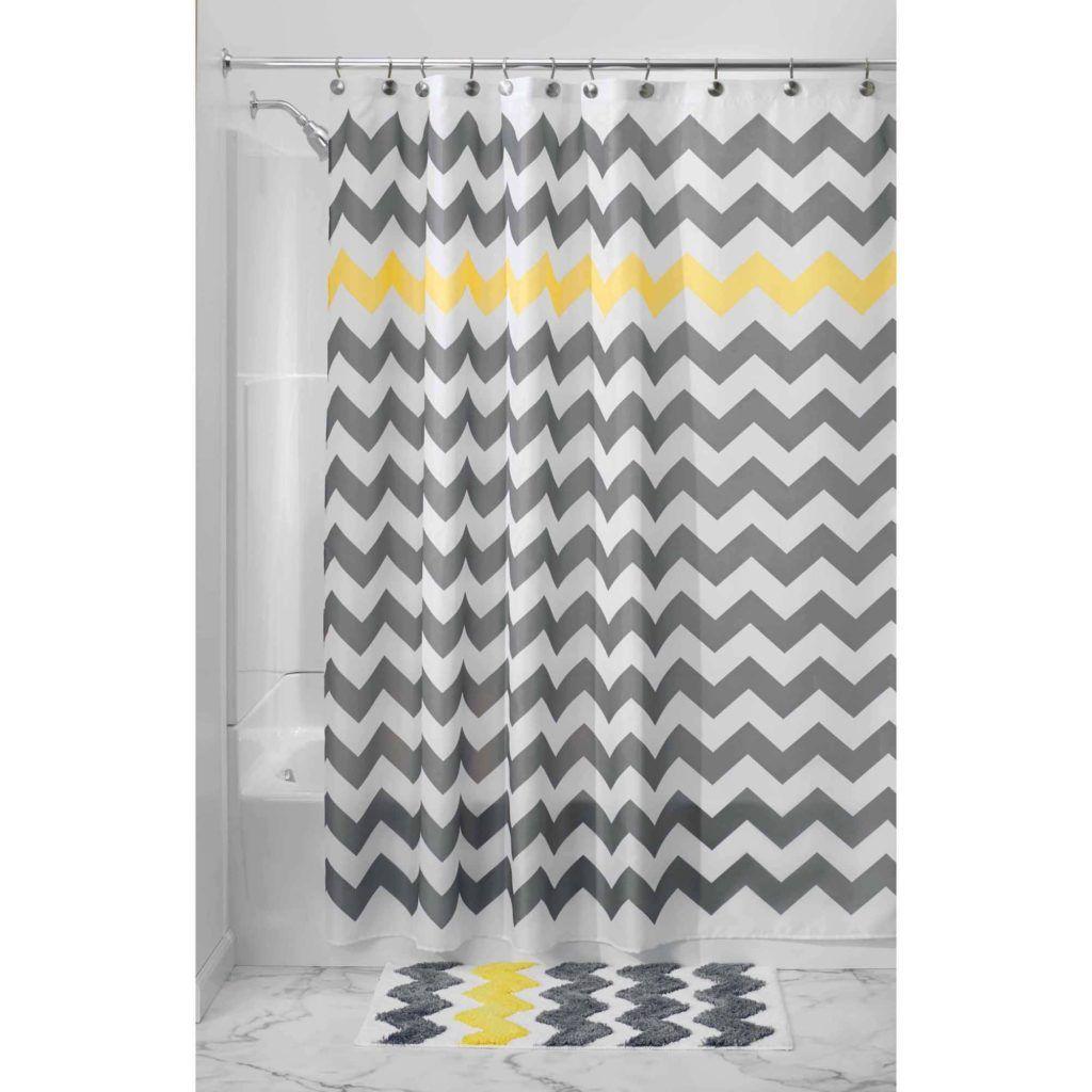 Amazing Gray And White Chevron Shower Curtain Part - 12: Gray Chevron Print Shower Curtain