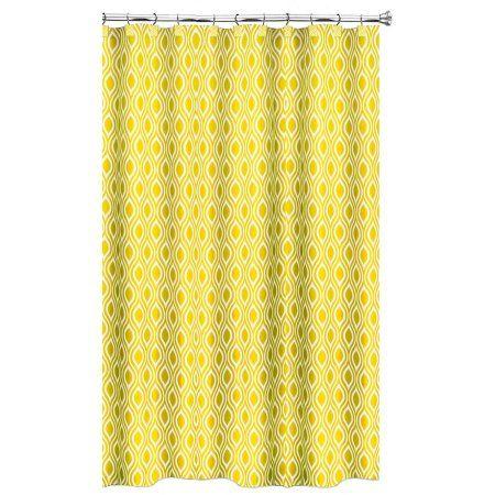Home Yellow Shower Curtains Shower Curtains Walmart