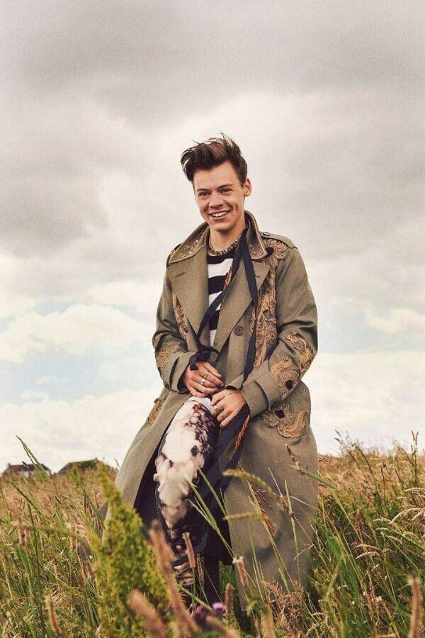 Happy Harry. Still stylish during a shooting break of Dunkirk. Best Harry Pins at rickysturn/harry-styles