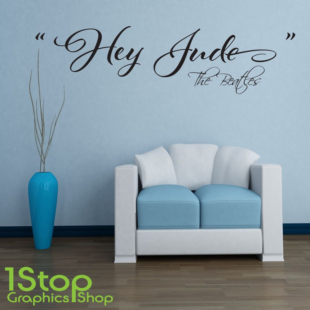 The beatles hey jude wall sticker quote bedroom love wall art