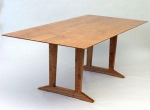 The Cherry Trestle Table Custom Built And Handmade By Vt Artisan