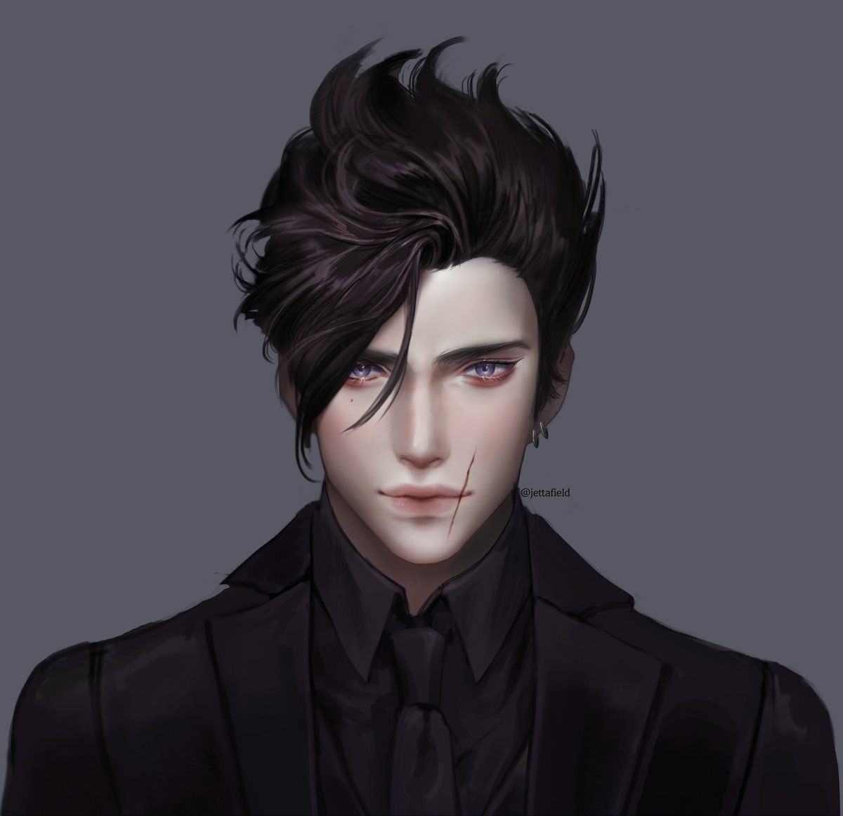 Artist Jettafield Fantasy Art Men Handsome Anime Guys Character Design Inspiration
