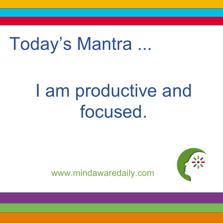Today's #Mantra. . . I am productive and focused. #affirmation #trainyourbrain #ltg Get our mantras in your email inbox here: