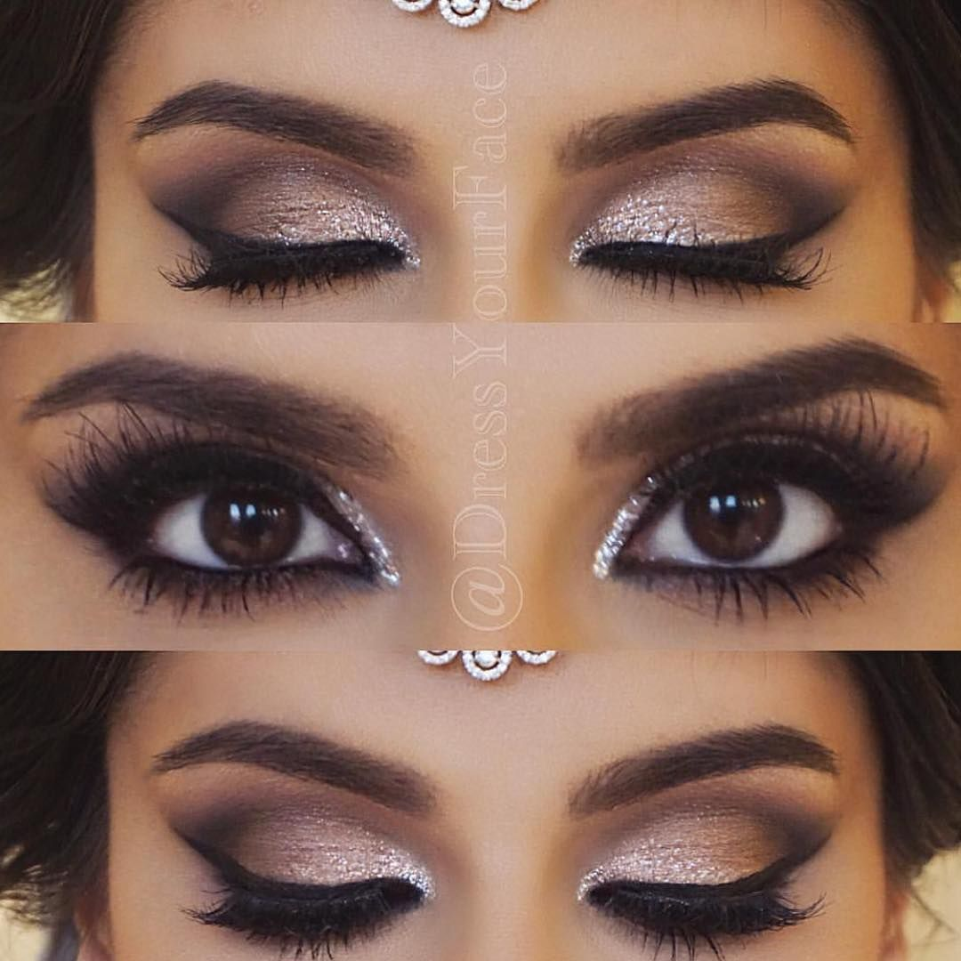 beautiful glam @dressyourface brows: #browwiz in dark brown